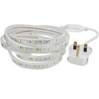 LED Strip Lights Rope 5050 SMD Garden Kitchen Decking Waterproof 6M Warm White