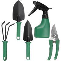 5PCS Garden Tool Set Plastic Case Packing green