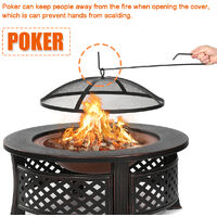 32 inch Round Fire Pit Patio Brazier Fireplace Heater