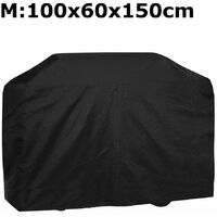 BBQ Cover Heavy Duty Waterproof Rain Barbeque Grill Garden Protector M 100x60x150cm