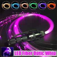 RGB Multi-Mode Flashlight Super Bright LED Fiber Optic Whip 150CM Fiber Optic Dance Whips 360¡ã Rotation Light