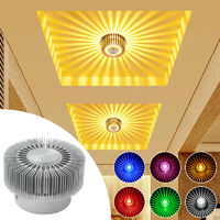 Modern 3W LED Ceiling Light multicolor Installable With Remote