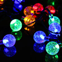 Solar Powered Garden Party 20 LED Fairy String Ball Outdoor Decor Lights Lamps Multi-Color 5M 20Balls