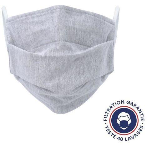 Lot De 2 Masques Lavables Gris Grand Public Uns 1