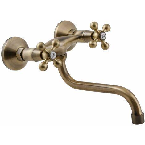 Elegant 's' type laiton antique salle de bain robinet robinet de cuisine anciennes têtes rétro