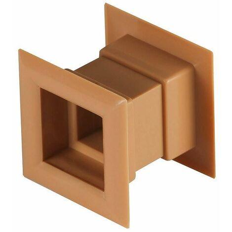 4pcs mini grille d'aération carré porte grille ventilation interne couverture couleur chêne