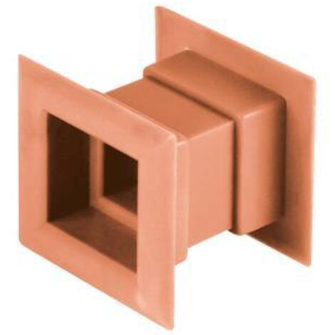 4pcs mini carré grille d'aération de la porte de ventilation interne de la couverture de couleur orange