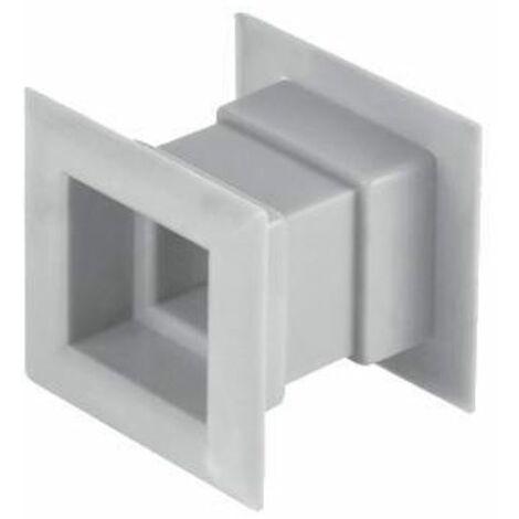 4pcs mini grille d'aération carré porte grille de ventilation interne couvercle blanc couleur