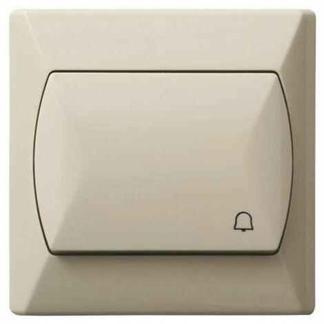 Simple gros bouton basique réactif push release porte cloche interrupteur plaque beige