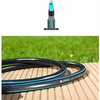 "Flexible long six couches jardin tuyau flexible de tuyau noir 45m longueur 3/4 ""de diamètre"
