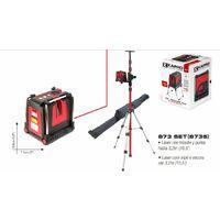 KAPRO 58730 Prolaser Vector - Nivel laser a 3 LINEAS ROJO + Tripode