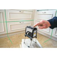 Nivel laser KAPRO a 3 LINEAS VERDE 58733. 3 rayos láser, que incluyen: 1 horizontal y 2 verticales con una intersección de 90°