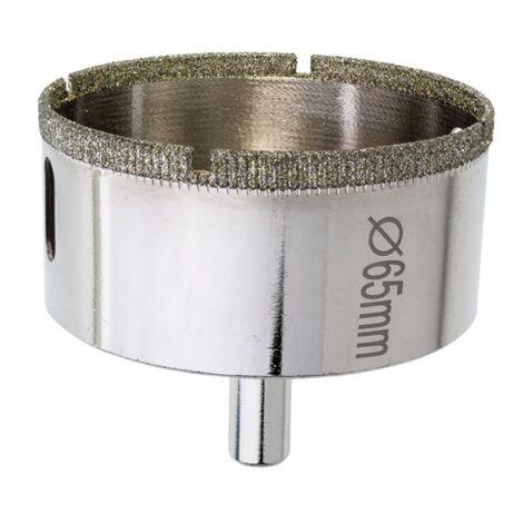 Scie cloche diamantée 65 mm, dentelles pour grès c