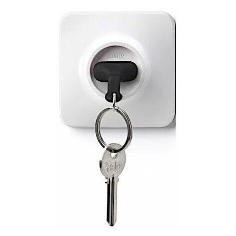 Accroche clés prise de courant - Noir - Livraison gratuite