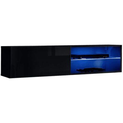 Banc TV mural Switch RTV 4 - L 120 x P 40 x H 30 cm - Noir - Livraison gratuite