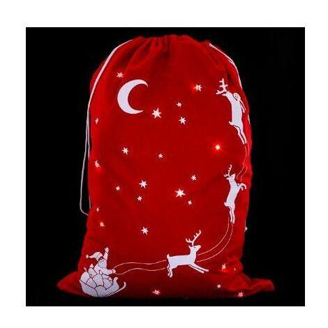Hotte de Noël lumineuse - LED - Rouge - L 50 cm x H 70 cm - Les incontournables - Livraison gratuite