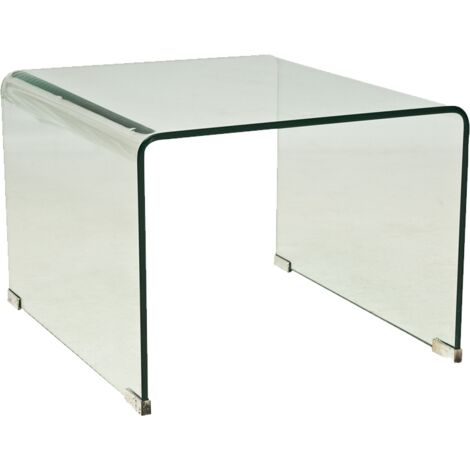 Table basse en verre - L 58 cm x l 49 cm x H 38 cm - Priam B - Livraison gratuite