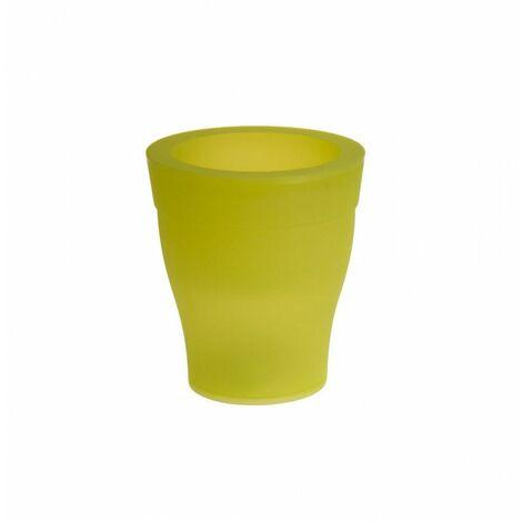 Cache-pot - LED - D 17 cm x H 19 cm - Vert - Livraison gratuite