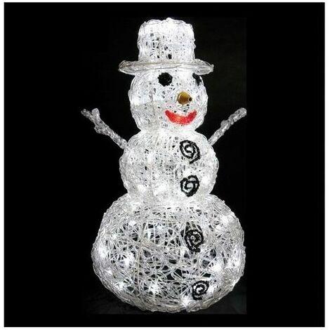 Bonhomme de neige lumineux 57 cm - 96 Leds - Décoration de Noël - Livraison gratuite