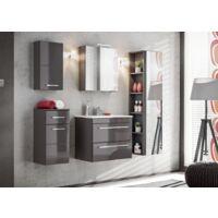Grande armoire murale avec miroir - 35 x 30 x 140 cm - Twist Gray - Livraison gratuite
