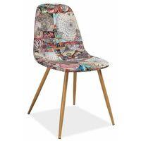 Chaise scandinave - Citi - 44 x 38 x 84 cm - Graphique - Livraison gratuite