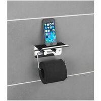 Dérouleur papier WC avec support pour smartphone - Chrome - Wenko - Livraison gratuite