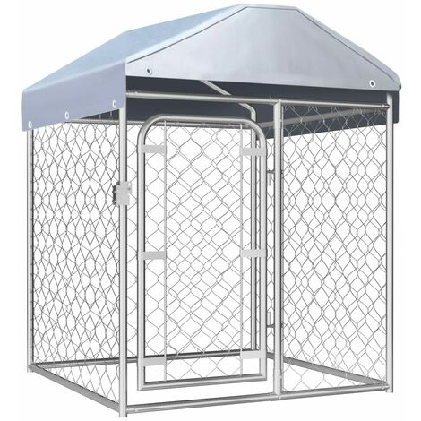 Outdoor Dog Kennel with Roof 100x100x125 cm