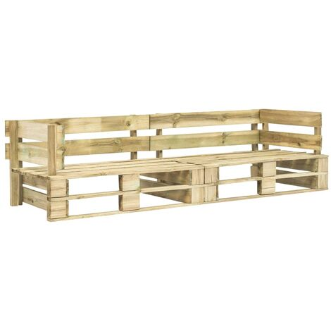 Garden 2-Seater Sofa Pallets Wood