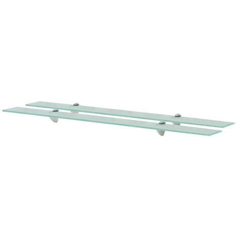 Floating Shelves 2 pcs Glass 100x10 cm 8 mm