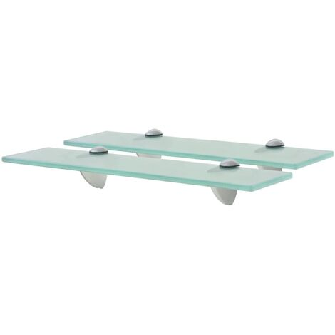 Floating Shelves 2 pcs Glass 40x20 cm 8 mm