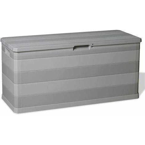 Garden Storage Box Grey 117x45x56 cm