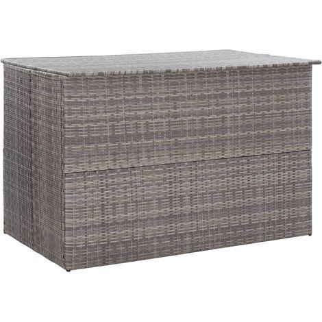 Garden Storage Box Grey 150x100x100 cm Poly Rattan