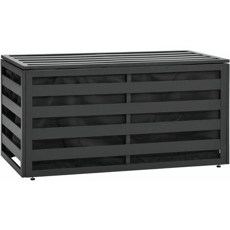 Garden Storage Box Aluminium 100x50x50 cm Anthracite