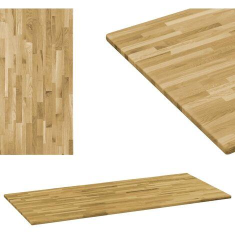 Table Top Solid Oak Wood Rectangular 23 mm 140x60 cm
