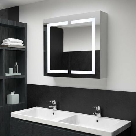 LED Bathroom Mirror Cabinet 80x12.2x68 cm