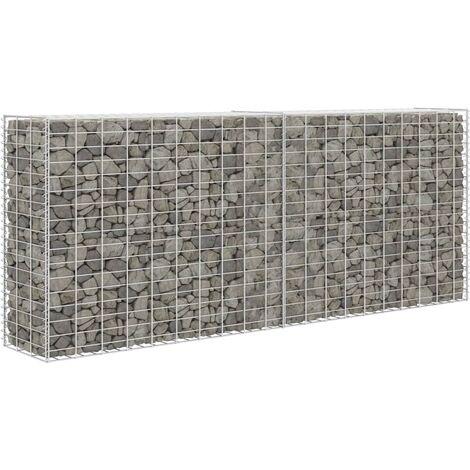 Gabion Basket Galvanised Steel 85x30x200 cm