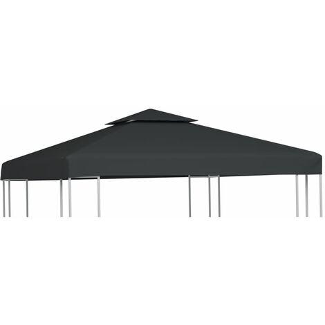 Gazebo Cover Canopy Replacement 310 g / m² Dark Grey 3 x 3 m