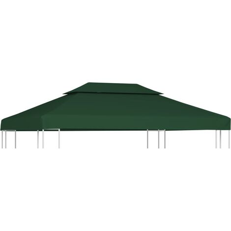 Gazebo Cover Canopy Replacement 310 g / m² Green 3 x 4 m