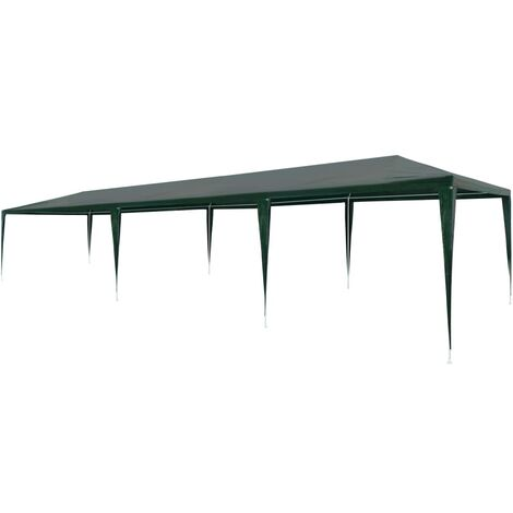 Party Tent 3x9 m PE Green