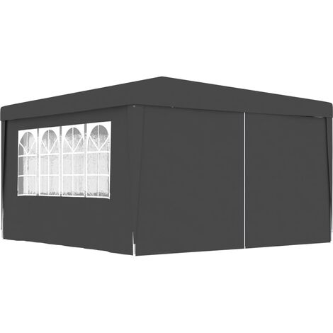 Professional Party Tent with Side Walls 4x4 m Anthracite 90 g/m²