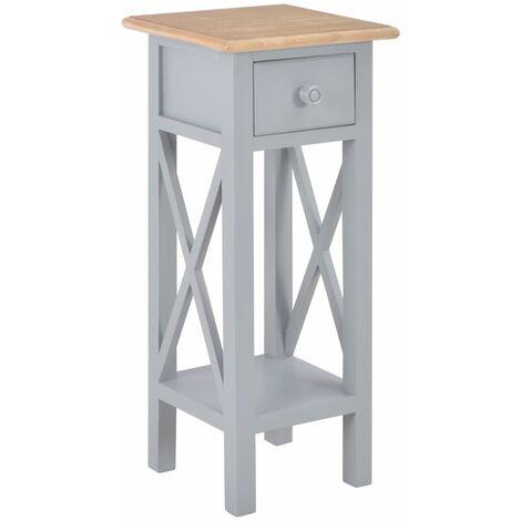 Side Table Grey 27x27x65.5 cm Wood
