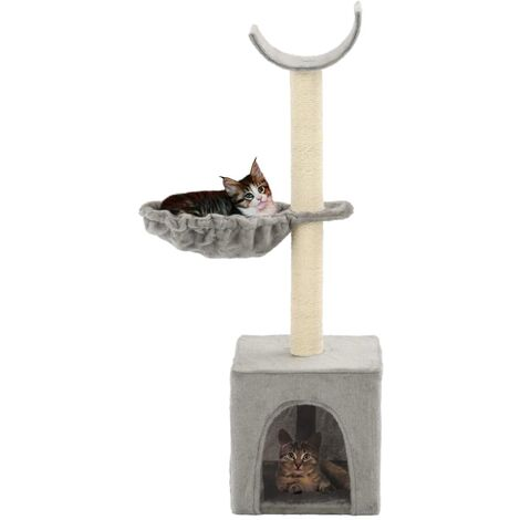 Cat Tree with Sisal Scratching Posts 105 cm Grey