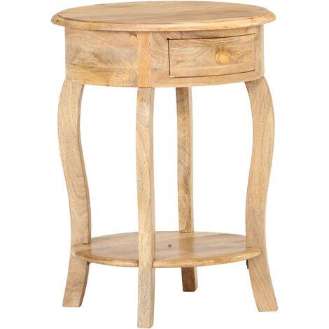 Side Table 37x37x61 cm Solid Mango Wood