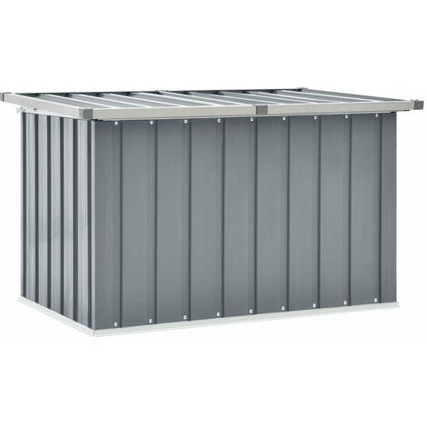 Garden Storage Box Grey 109x67x65 cm