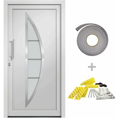 Front Entrance Door White 98x200 cm