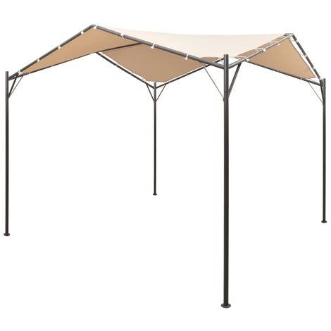 Gazebo Pavilion Tent Canopy 4x4 m Steel Beige