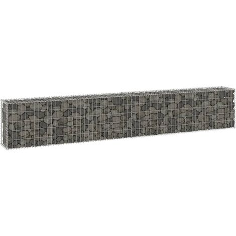 Gabion Wall with Covers Galvanised Steel 300x30x50 cm