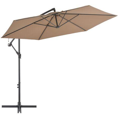 Cantilever Umbrella with Aluminium Pole 300 cm Taupe