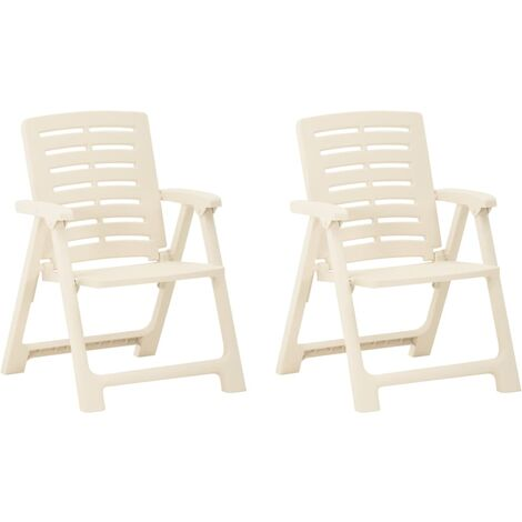YOUTHUP Garden Chairs 2 pcs Plastic White