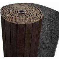 Room Divider Bamboo Dark Brown 250x165 cm